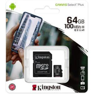 Kingston_64GB_Canvas_Select_Plus_100R_A1_C10_microSDXC_memoriakartya-i900485